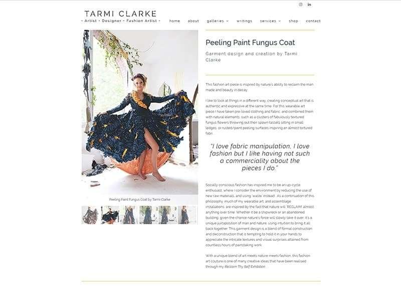 Tarmi Clarke Website, Design And Wordpress Build By Birdhouse Digital