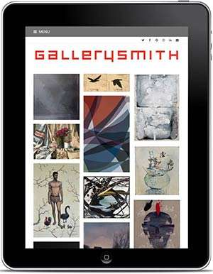 Gallerysmith Website, Homepage On IPad. Design And Wordpress Build By Birdhouse Digital