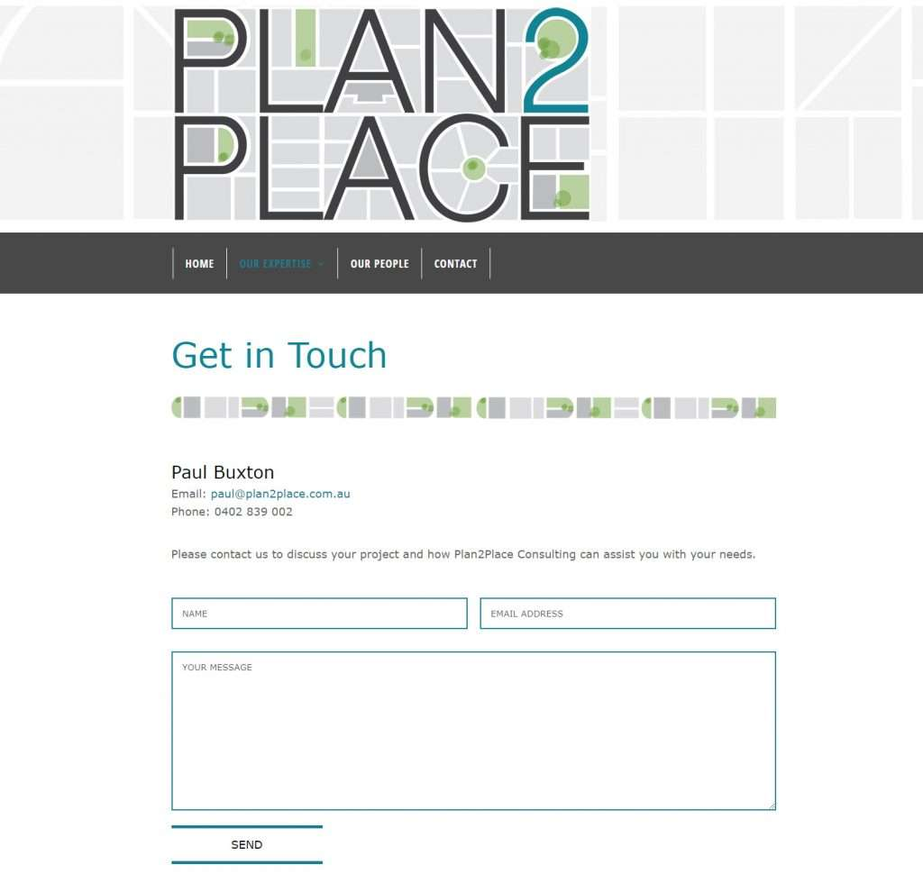 Plan2Place Website, Design And Wordpress Build By Birdhouse Digital