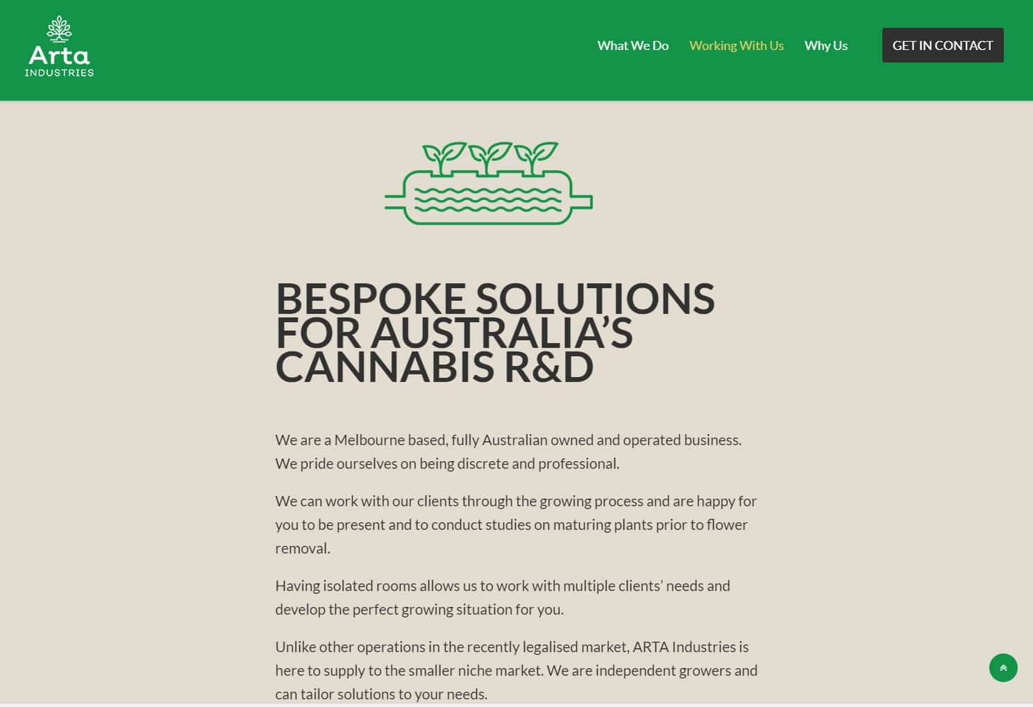 Arta Industries Website, Design And Wordpress Build By Birdhouse Digital