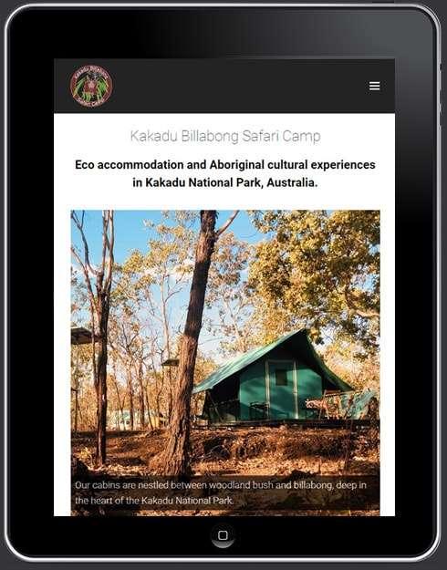 Kakadu Billabong Safari Camp Website, Design And Wordpress Build By Birdhouse Digital