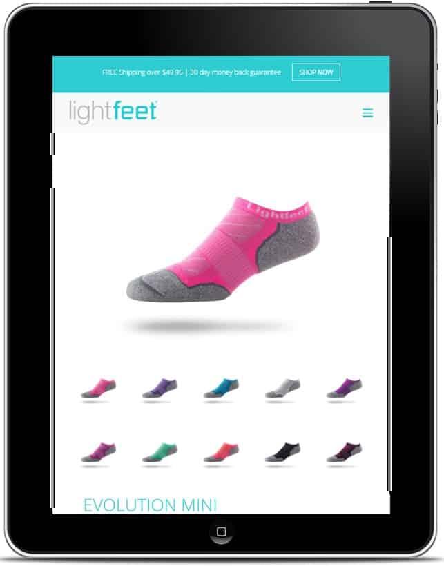 Lightfeet Website, Design And Wordpress Build By Birdhouse Digital