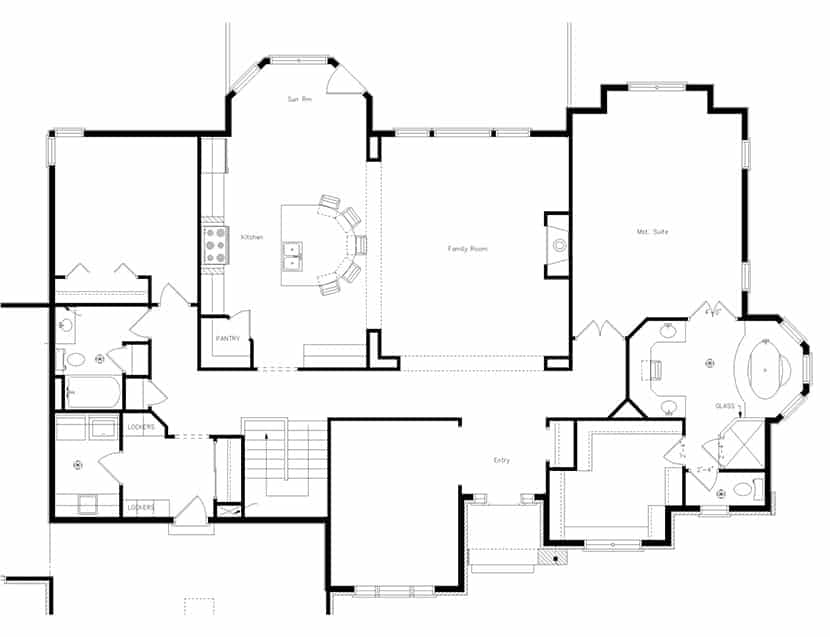 CAD Drawing Of House Floor Plan
