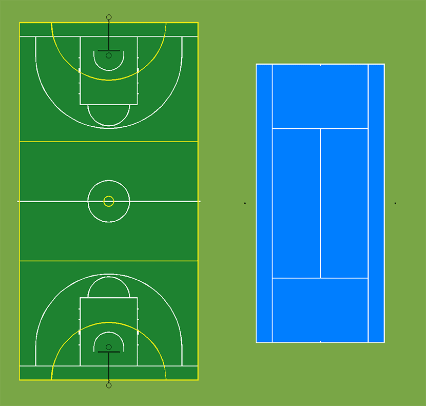 CAD Drawing Of Sportsfield