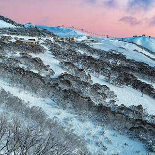 Hotham Ski Association, photo of Mt Hotham at sunset