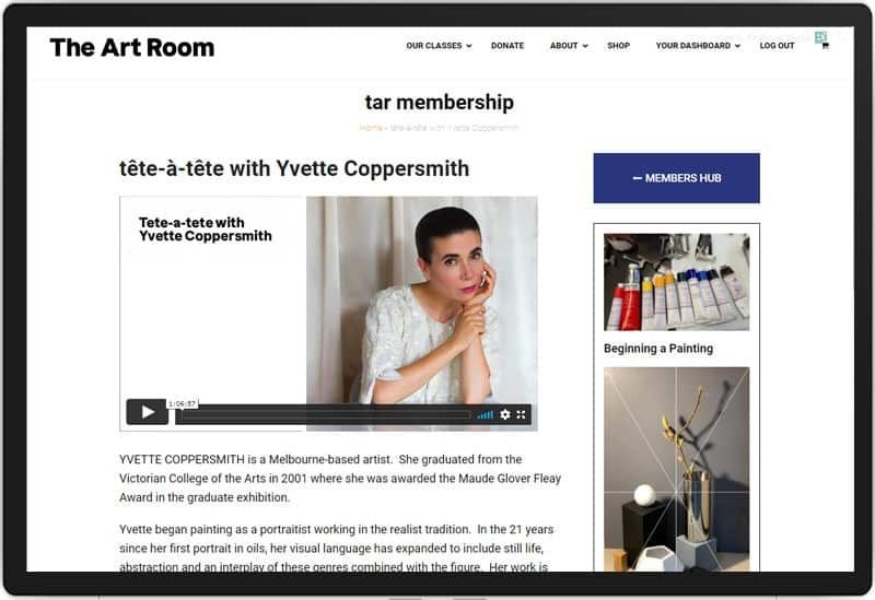 The Art Room Membership Resource: Screenshot